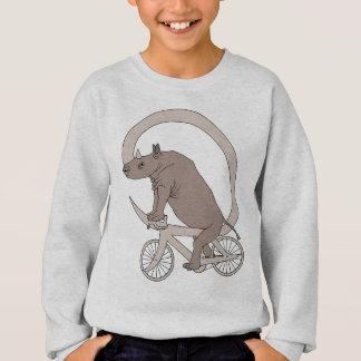 Sudadera Rinoceronte que monta con su bici del cuerno