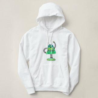 Sudadera Robot de Frankie, verde en blanco