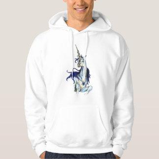 Sudadera Rojo del potro del caballo del azul real del