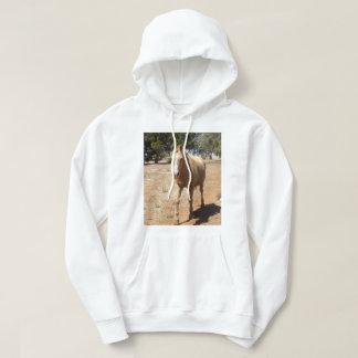 Sudadera Saludo del caballo del Palomino,