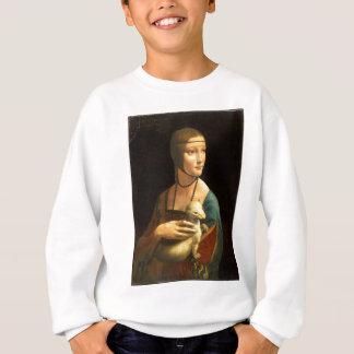 Sudadera Señora de la pintura de Da Vinci original con un
