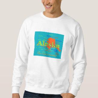 Sudadera Silueta del mapa del orgullo de Alaska
