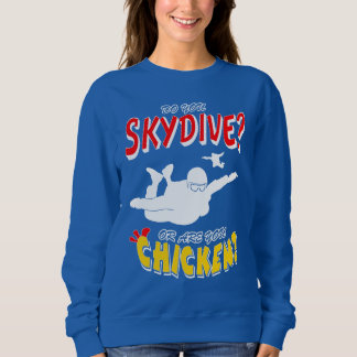 Sudadera ¿Skydive o pollo? (blanco)