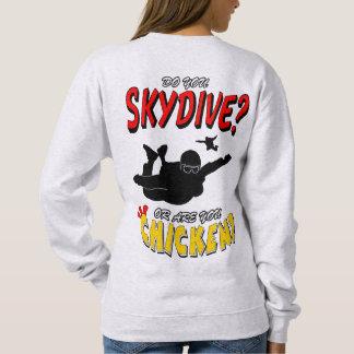 Sudadera ¿Skydive o pollo? (negro)