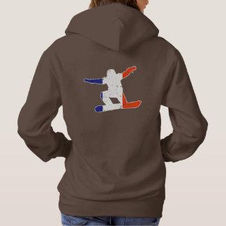 Sudadera SNOWBOARDER tricolor francés (blanco)