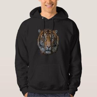 Sudadera Una cara salvaje del tigre de Bengala