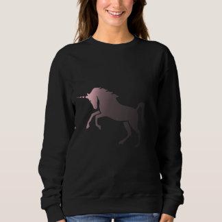 Sudadera Unicornio de descoloramiento rosado