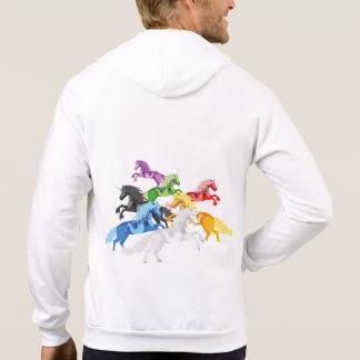 Sudadera Unicornios salvajes coloridos del ejemplo
