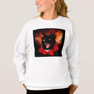 Sudadera vampiro del gato - gato negro - gatos divertidos