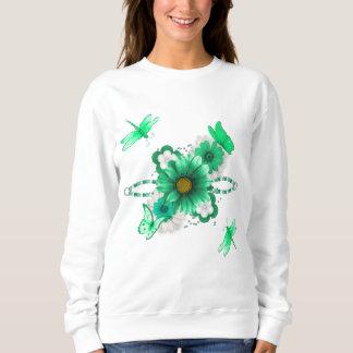 Sudadera Verde esmeralda floral