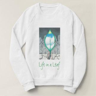 Sudadera Vida en una hoja (letras verdes)