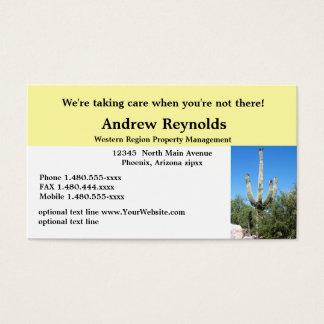 Sudoeste del desierto del administrador de la tarjeta de negocios