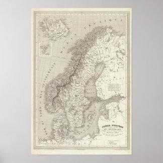 Suecia, Noruega, y Dinamarca Póster