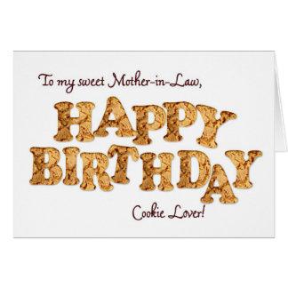 Suegra, una tarjeta de cumpleaños para un amante