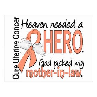 Suegra uterina del cáncer del héroe necesario del postal