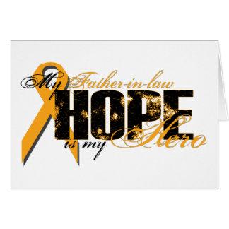 Suegro mi héroe - esperanza de la leucemia felicitaciones