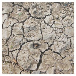 Suelo muy seco y agrietado tela