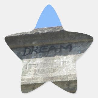 Sueño 2 pegatinas forma de estrella