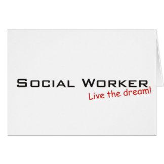 Sueño/asistente social felicitación