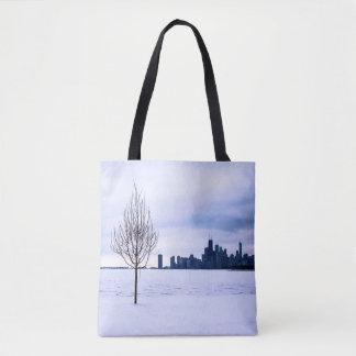 Sueño blanco - invierno en Chicago, bolsos