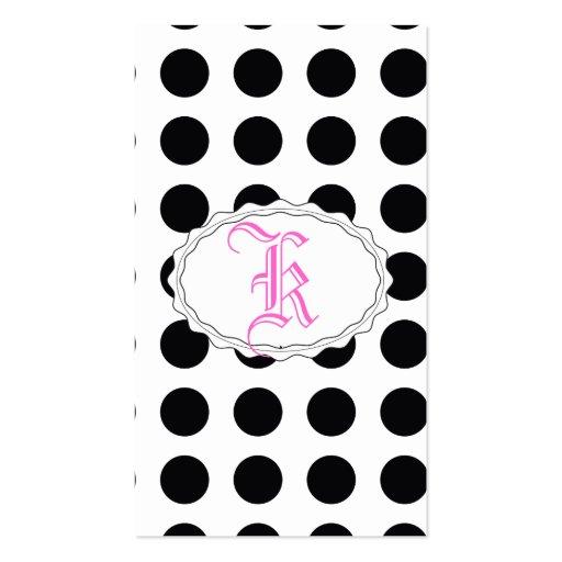 sueño blanco y negro del polkadot tarjeta personal