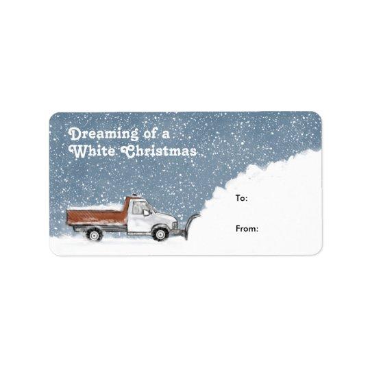 Sueño con las etiquetas del navidad blanco de un etiqueta de dirección
