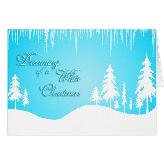 Sueño con navidad blanco (navidad) tarjeta de felicitación