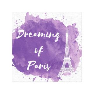 Sueño con París - arte de la pared de la lona