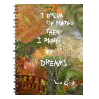 Sueño con rosas grises y anaranjados cuaderno