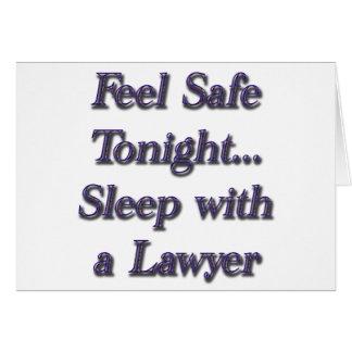 sueño con un abogado tarjeta de felicitación