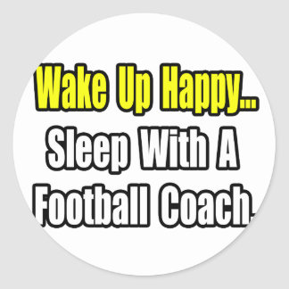 Sueño con un entrenador de fútbol pegatina redonda