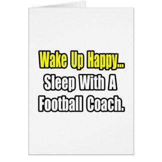Sueño con un entrenador de fútbol tarjetón