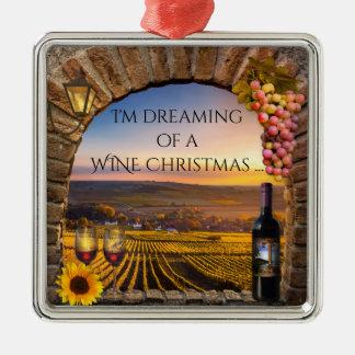 Sueño con un ornamento del navidad del vino