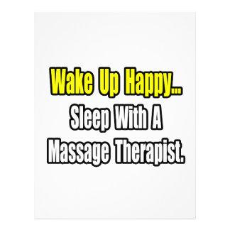 Sueño con un terapeuta del masaje tarjetas informativas