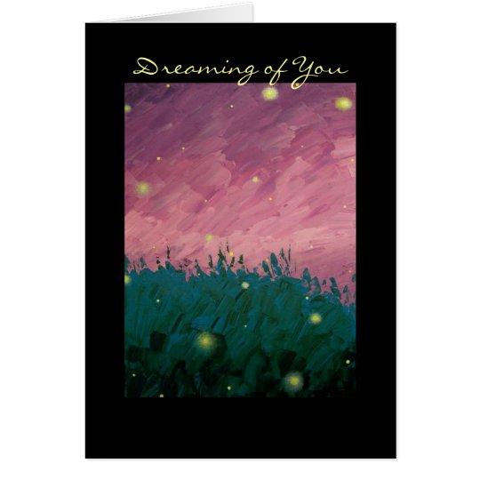 Sueño con usted tarjeta de felicitación