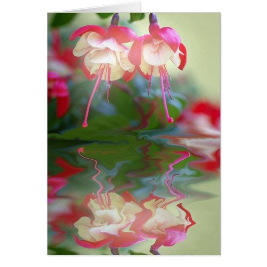 Sueño de flor tarjeta de felicitación
