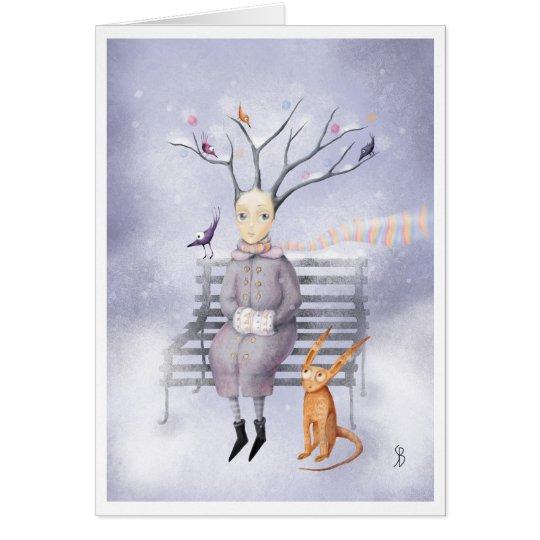 Sueño de la nieve tarjeta pequeña
