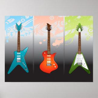 Sueño de los amantes de la guitarra eléctrica posters