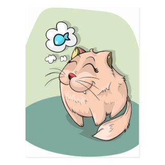 Sueño de los gatos postal
