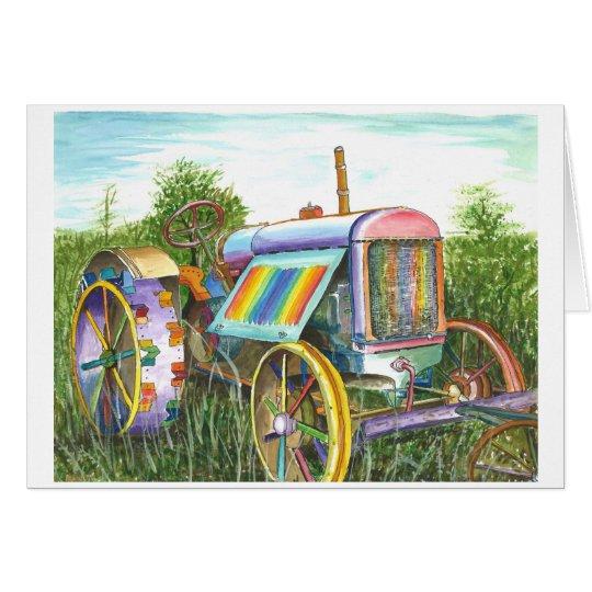 Sueño del tractor viejo tarjeta de felicitación