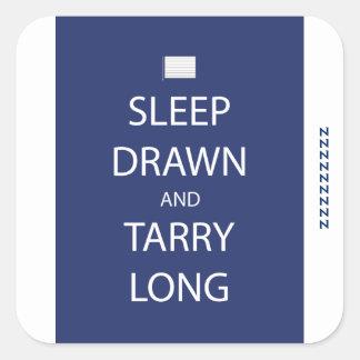 Sueño dibujado y pegatina largo de Tarry
