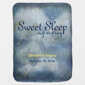 Sueño dulce mi querido mantita para bebé