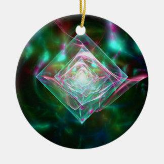 Sueño eléctrico de las ovejas de diamantes adorno redondo de cerámica