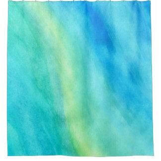 Sueño en cortina de ducha azul