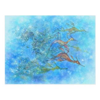Sueño en la postal de las mareas del Aquamarine