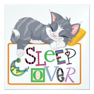 Sueño encima - fiesta de pijamas - SRF Invitación 13,3 Cm X 13,3cm