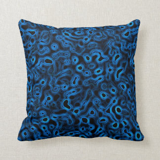 Sueño flúido azul cojín decorativo