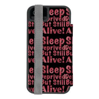 Sueño privado pero aún vivo en frambuesa funda cartera para iPhone 5 watson