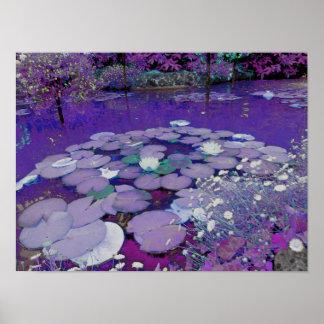 Sueño púrpura del lago póster