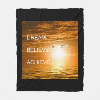 sueño que cree que lo alcanza motivación manta polar